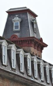 Dormer windows and the staircase tower are some of the architectural details that will be preserved at Mill No. 4 in Cohoes.
