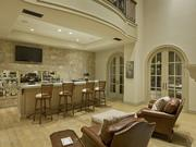 The family room includes a wet bar.