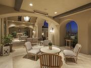 The expansive patio.