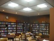 The library, seen here before renovations, was overhauled as part of the facility overhaul.