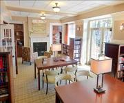 This photo shows how the library at Whitestone has an entirely different feel following the extensive renovations.