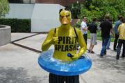 The Spirit Splash Duck made an appearance at UCF's 50th anniversary celebration near the campus library on June 10.