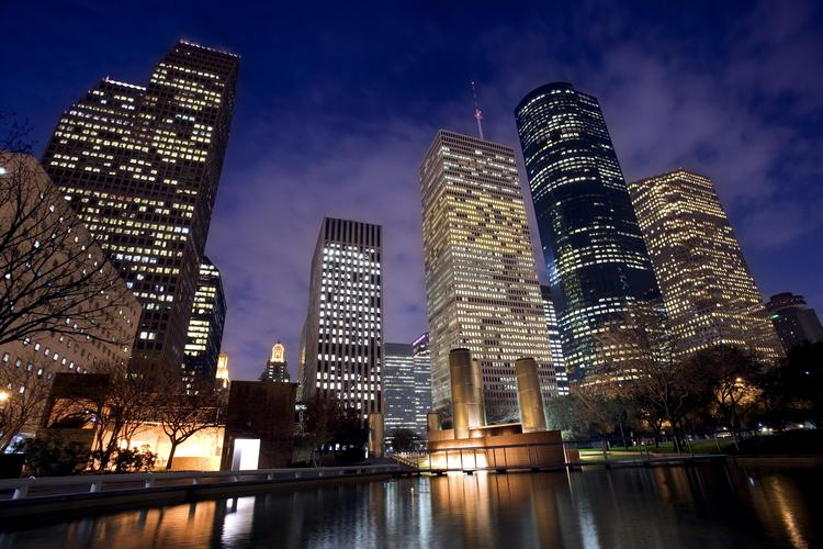 Louisiana Street in Houston's Central Business District ranked as one of the most expensive streets in the country for office rents.
