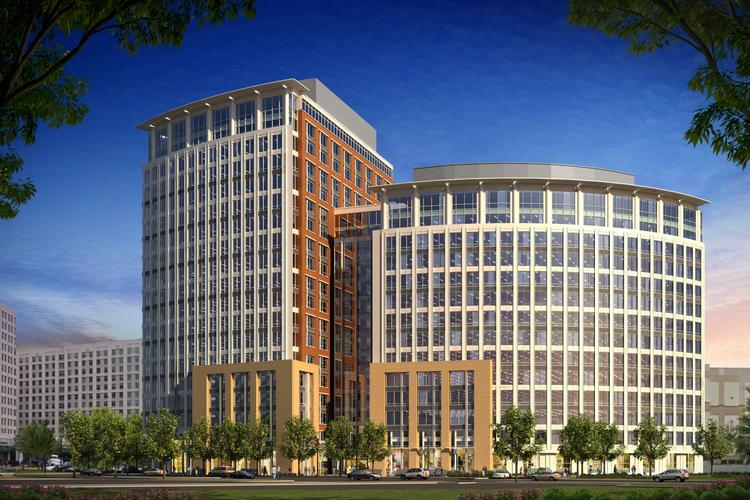 A rendering of 2500 Eisenhower Avenue, the future headquarters of the National Science Foundation.