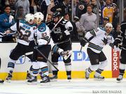 San Jose Sharks  Total 2012-2013 season payroll: $58 million  Highest paid players: Joe Thornton, $7.2 million Patrick Marleau, $6.9 million Martin Havlat, $5 million  Source: Capgeek.com