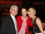 Rich Kagan (from left), producer and theater board member; Julie Hagerty Kagan, actress; and Bernie Griffin, the theater's managing director, pose at The 5th Avenue Theatre's fundraising gala.