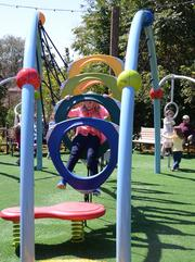 What's a garden without a playground? Many children's play areas are set up throughout the festival.