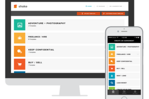 Shake launches its mobile legal contract-writing tool for business