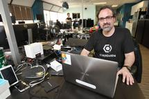 Cyanogen founder Steve Kondik is pictured in his company's Seattle, Washington headquarters