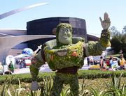 Buzz Lightyear is stationed by Mission Space.