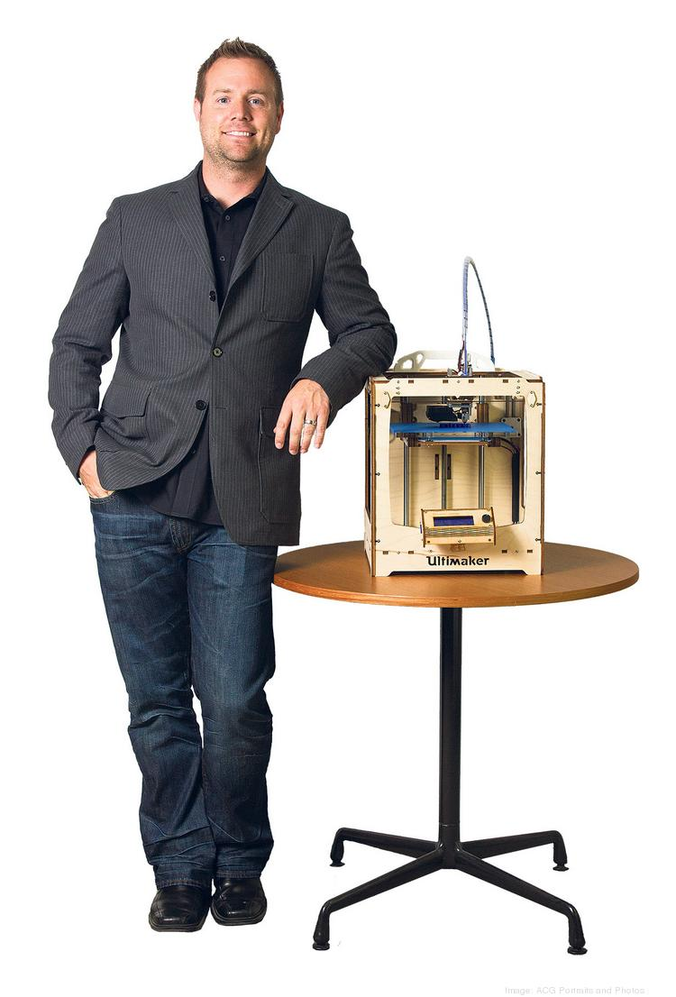 Mark McClendon leads VML's Innovation Lab, which includes a 3-D printer that he says is fun to experiment with even when he's away from the office.