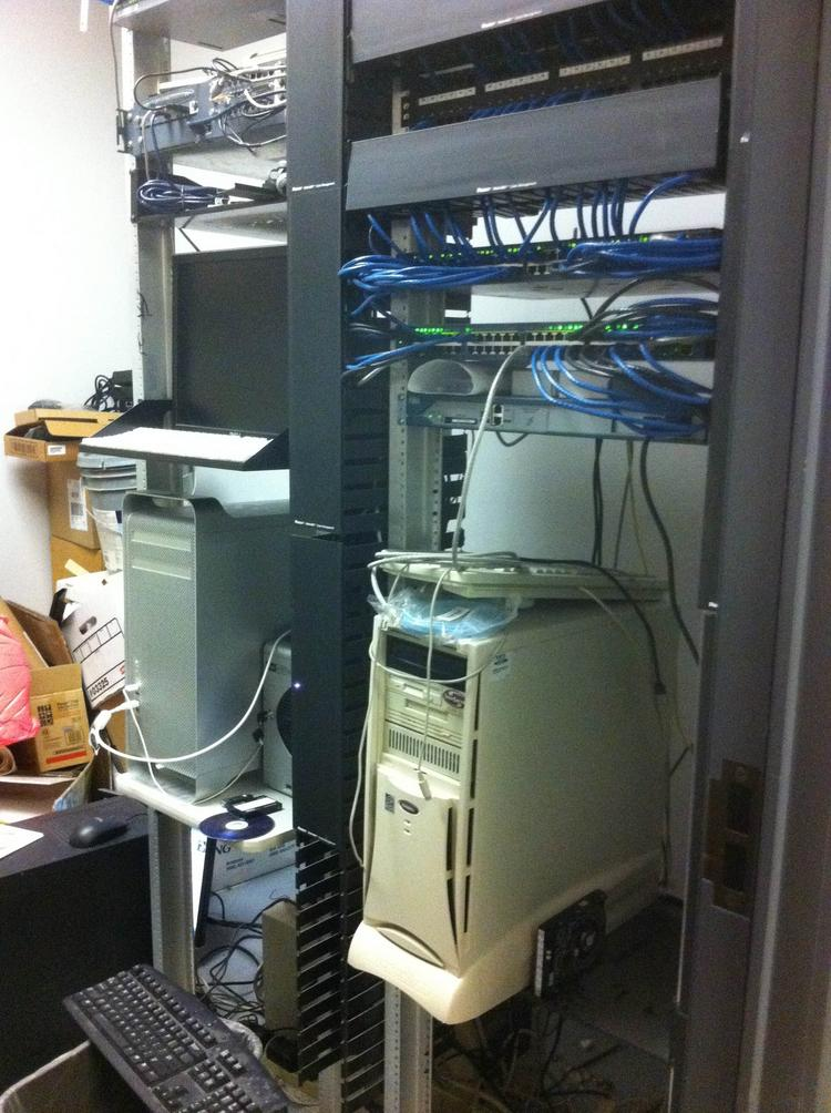 Getting servers out of closets like this could save a lot of power.