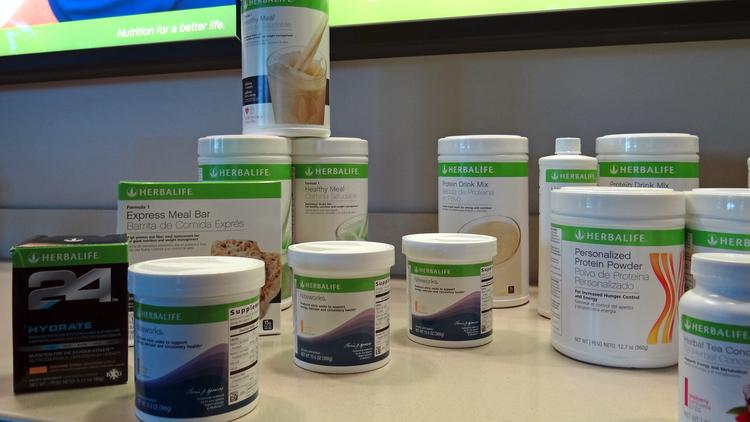 Some of the products that Herbalife makes.