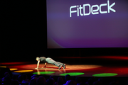 """Former Navy SEAL Phil Black started Demo Day with a handful of pushups. Black is CEO of FitDeck, which makes playing cards used to design workouts. The company's roots are in the Push Up Game, or P.U.G. The game uses a stack of playing cards to test a person's ability to do pushups.  """"My SEAL buddies and I loved this game,"""" Black said. """"We would P.U.G. all over the world: aircraft carriers, submarines, the desert, the jungle. You name it and we would P.U.G. there."""" Black has sold $4.3 million in FitDecks from his garage. He spent his time at the Nike accelerator digitizing the game. He wants to raise $500,000 from investors."""