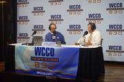 WCCO radio host John Hines (left) and market manager Nick Anselmo
