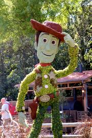 Sheriff Woody makes his rounds at the American Adventure.