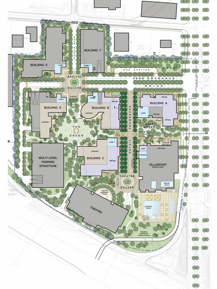 A Site Plan Submitted In LinkedInu0027s Project Package Shows The Location Of  Planned Buildings, Plazas