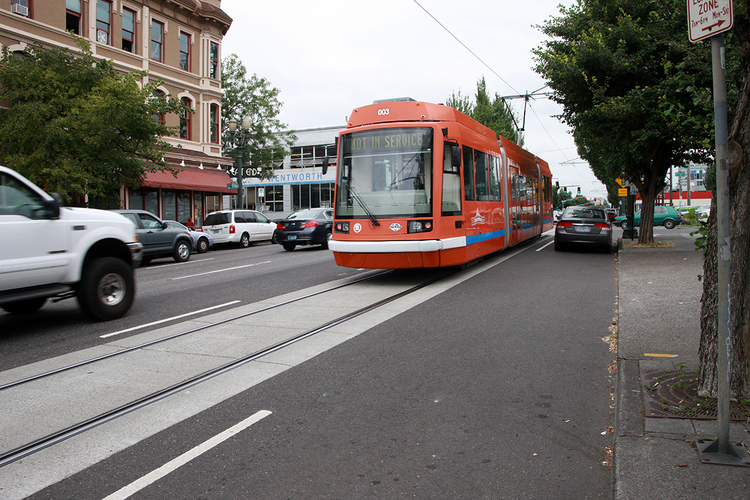 A proposed streetcar line between Sacramento and West Sacramento, similar to one shown here in Portland, would take a step forward with a proposed $5 million allocation to planning.
