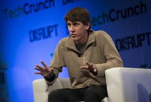 Dennis Crowley, co-founder of Foursquare Labs Inc., speaks during the TechCrunch Disrupt NYC 2013 conference in New York, U.S., on Monday, April 29, 2013.
