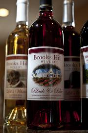 Brooks Hill Winery makes several varieties of wines.