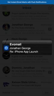 Push notifications can notify users of new messages.