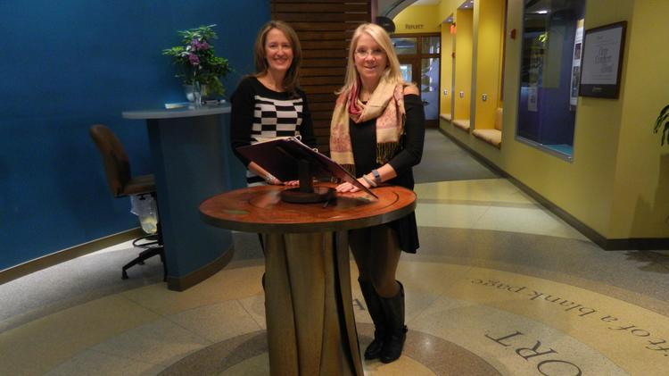 Jodi Hutchinson, left, and Dr. Beth DuPree are leading the expansion of Holy Redeemer's integrative medicine.