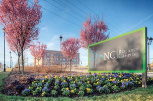 The N.C. Research Campus is a 350-acre life sciences and biotech hub in Kannapolis.