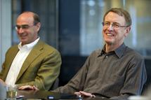 Ted Schlein and John Doerr of Klwiner Perkins BLOOMBERG