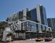 The W Hotel in South Beach, seen from Collins Avenue.