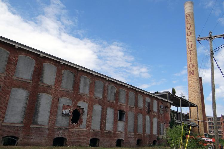 The remainder of Revolution Mill in Greensboro is undergoing renovations.
