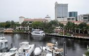 Las Olas Riverfront sits north of the New River.