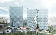 A rendering shows the Marina Lofts development Cymbal has planned for Fort Lauderdale and Bjarke Ingels has designed.