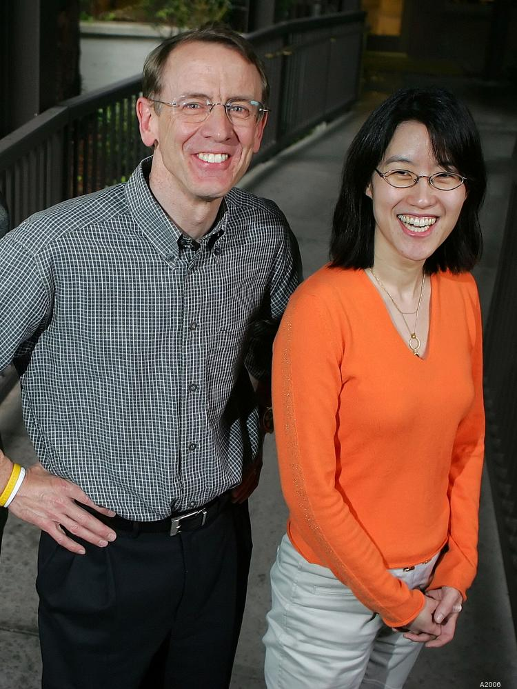 Ellen Pao and John Doerr are shown here in 2006 when she was his chief of staff at the Kleiner Perkins Caufield & Byers venture firm in Menlo Park. She sued the firm in 2012 for sexism and the trial is wrapping up it fourth week in a San Francisco courtroom.