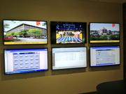 Owens Realty Services has a separate room from which it can monitor operations at its multiple properties.