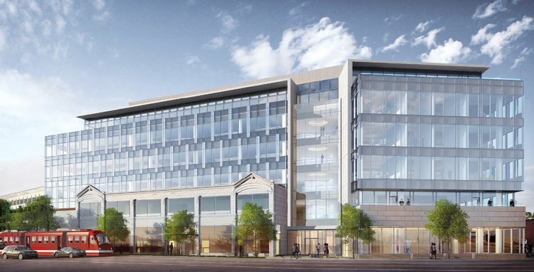 The Allen Institute for Brain Science's new building will be at Westlake Avenue North and Broad Street. New images of the project have been posted on the city of Seattle's website.