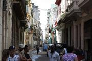 A street scene in Old Havana