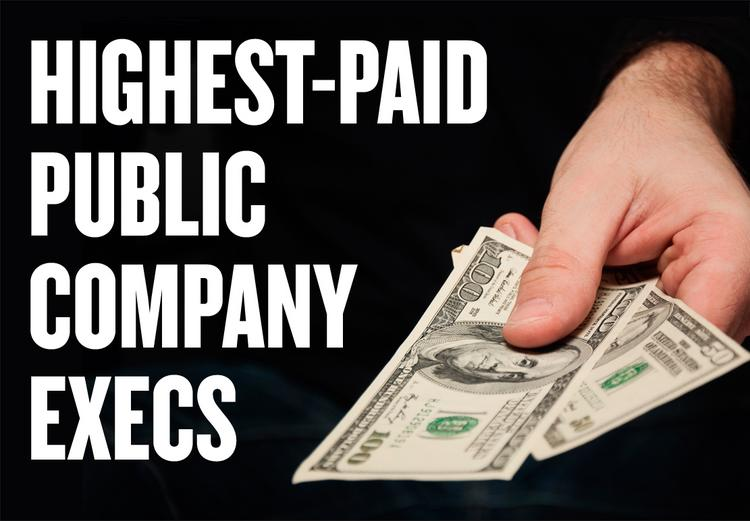 A slideshow ranks the 25 highest-paid execs at public companies based in the Sacramento region. Executives are ranked by total compensation, which includes bonuses and stock options.