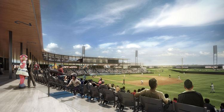 A rendering of the new Saints ballpark