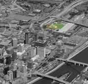 Where the ballpark will be located within St. Paul