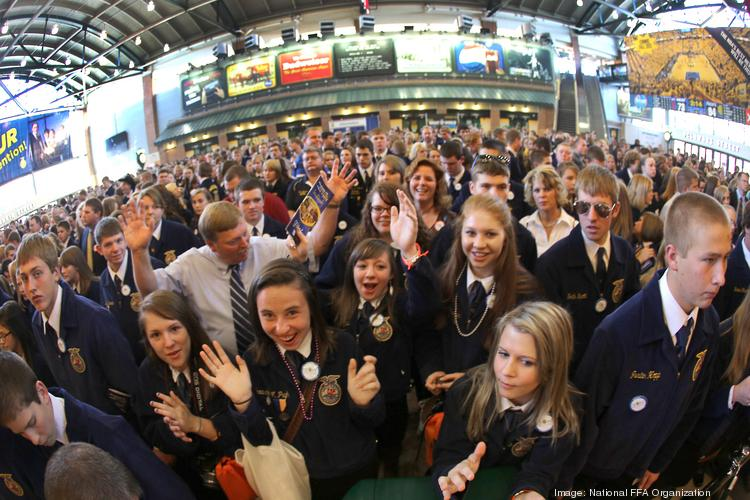 The National FFA Organization is expected to bring 57,000 people to Louisville later this month. Since 2006, the FFA has held its national convention in Indianapolis, as shown in these photos from last year.