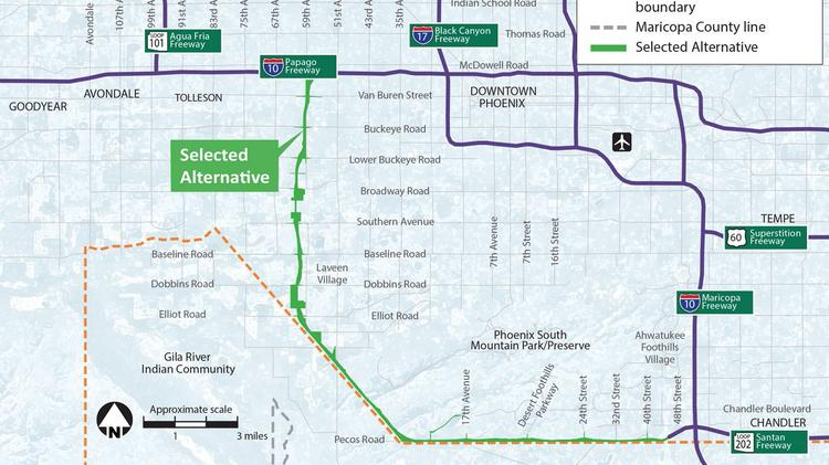 Loop 202 South Mountain extension gets federal green light - Phoenix ...
