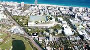 Aerial views of the plans South Beach ACE and Koolhaas' OMA have submitted as part of their proposal to overhaul the Miami Beach Convention Center.