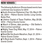 Upgrade at Auditorium Shores has events seeking new homes