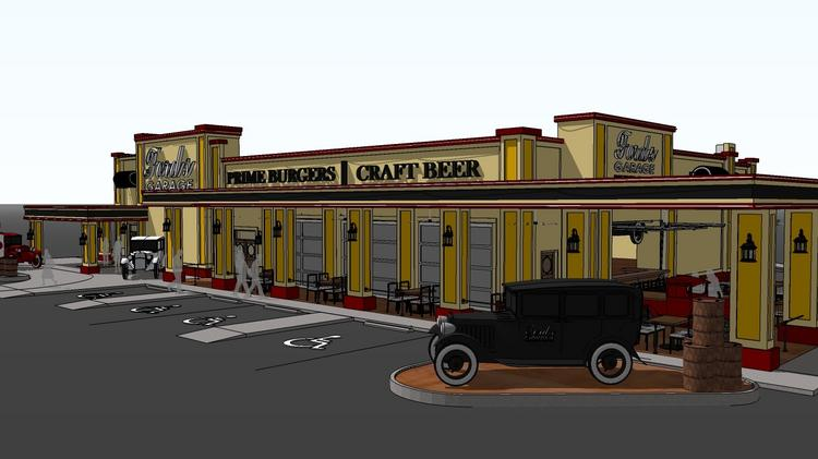 Ambitious ford 39 s garage restaurant bar concept revving up for Garage ford saint louis