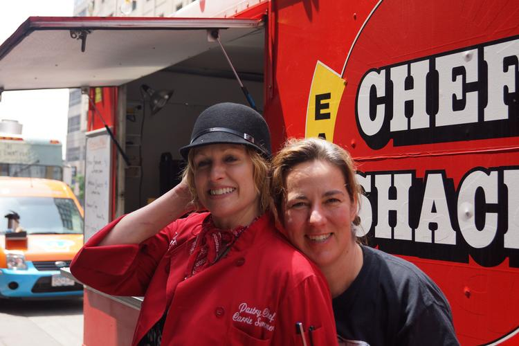 Carrie Summer (L) and Lisa Carlson (R) are the owners of Chef Shack and have known each other 12 years