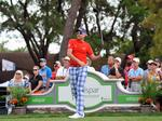 Valspar and Ian Poulter coordinating his clothes