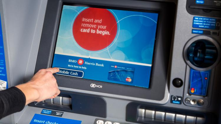 Bmo harris debuts card less atms in twin cities minneapolis st mobile cash withdrawal from a bmo harris bank atm reheart Gallery