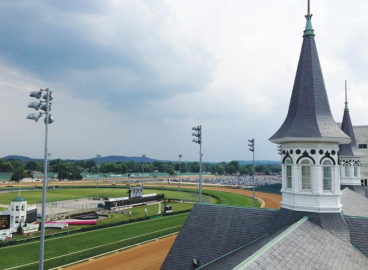 Churchill Downs Inc. executive vice president and CFO Bill Mudd said the Louisville-based gaming company might have to quit racing at Arlington Park sometime in the future.