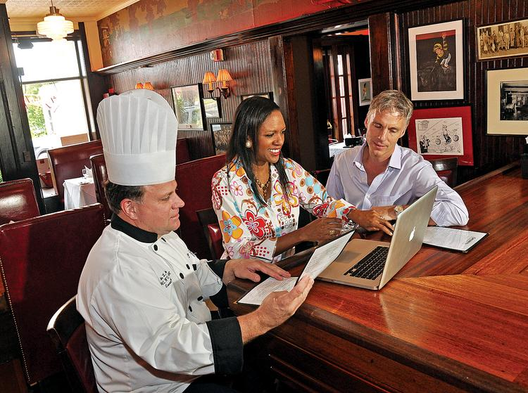 Master chef Dale Miller, left, will remain at Sperry's in Saratoga Springs, which is undegoing an ownership change. Christel MacLean and Colin MacLean will take full ownership of Circus Café and sell their minority stake in Sperry's to a group that includes Scott Johnson, the city's mayor.
