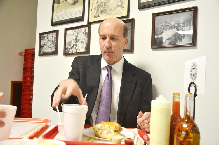 Dennis Yablonsky, CEO of the Allegheny Conference on Community Development, is a regular at The Original Oyster House.